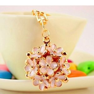 New! Floral keychain/bag charm Gift
